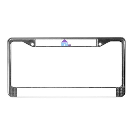 House - Real Estate License Plate Frame