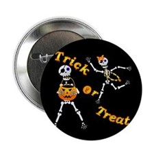 """Halloween Skeltons 2.25"""" Button (10 pack)"""
