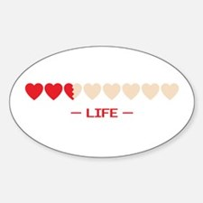 life bar Oval Decal