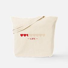 life bar Tote Bag