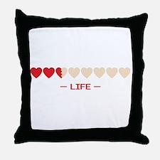 life bar Throw Pillow