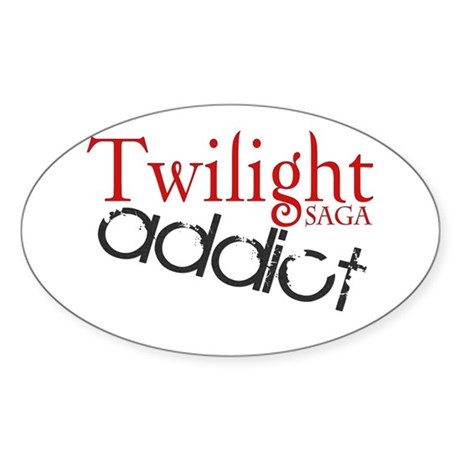 Twilight Saga Addict Oval Sticker