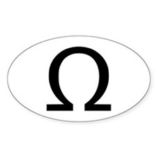Omega Oval Decal