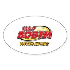 BOB FM Oval Decal