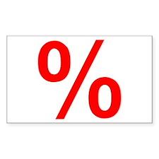 Percent Rectangle Decal