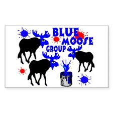 Blue Moose Group Rectangle Decal