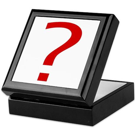 Question Mark Keepsake Box