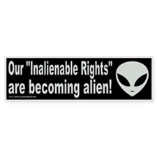 Alienable rights (sticker)