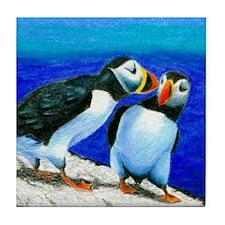 Art Tile by Dawn Howard White Tile Coaster