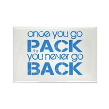 Once you go Pack ... blue Rectangle Magnet