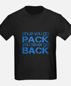 Once you go Pack ... blue T