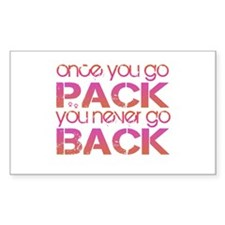 Once you go Pack ... pink/ora Rectangle Decal