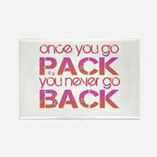 Once you go Pack ... pink/ora Rectangle Magnet