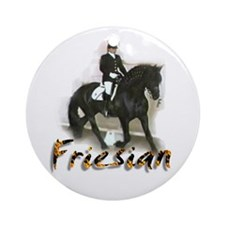 Half Fast Farms Friesian Ornament (Round)