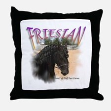 Half Fast Farms Friesian Throw Pillow