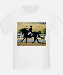 Cantering Friesian Kids T-Shirt 2 sided