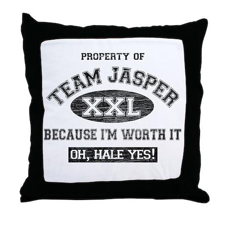 Property of Team Jasper Throw Pillow