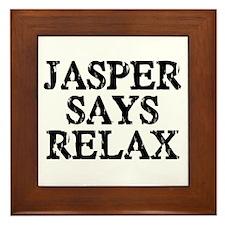 Jasper Says Relax Framed Tile