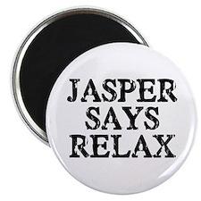 Jasper Says Relax Magnet