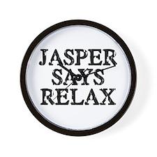 Jasper Says Relax Wall Clock