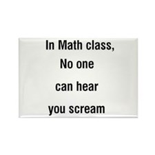 math scream Rectangle Magnet