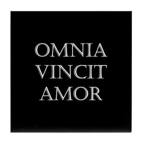 omnia vincit amor tile coaster by omniavincit. Black Bedroom Furniture Sets. Home Design Ideas
