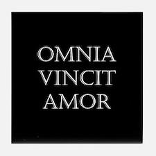 omnia vincit amor Tile Coaster