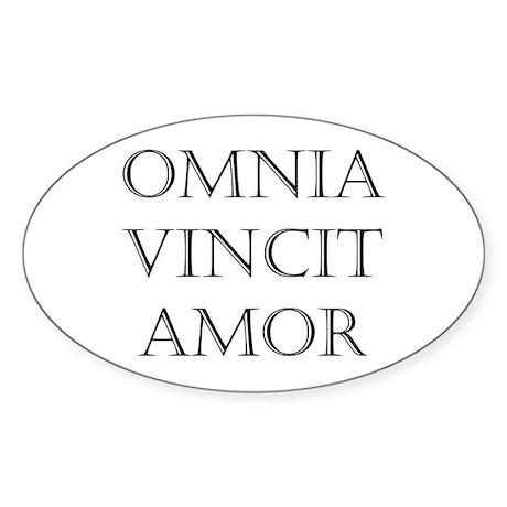 omnia vincit amor Oval Sticker