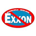 No More Spills Oval Bumper Sticker