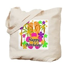 Tropical Luau Birthday Tote Bag