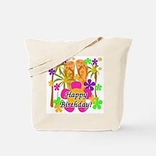 Tropical Luau Birthday Tote Bag