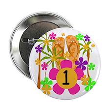 Luau 1st Birthday Button