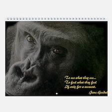 Gorillas Wall Calendar