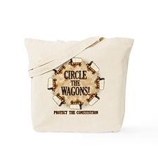 Circle the Wagons! Tote Bag