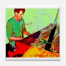 Piano Man Stirred Tile Coaster