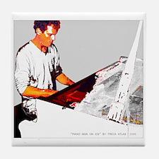 Cool Piano Man Tile Coaster