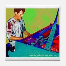 Jazz Piano Man Tile Coaster