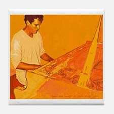 Piano Man Ablaze Tile Coaster