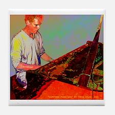 Carotene Piano Man / Tile Coaster