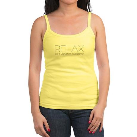 Relax I'm a Massage Therapist Jr. Spaghetti Tank