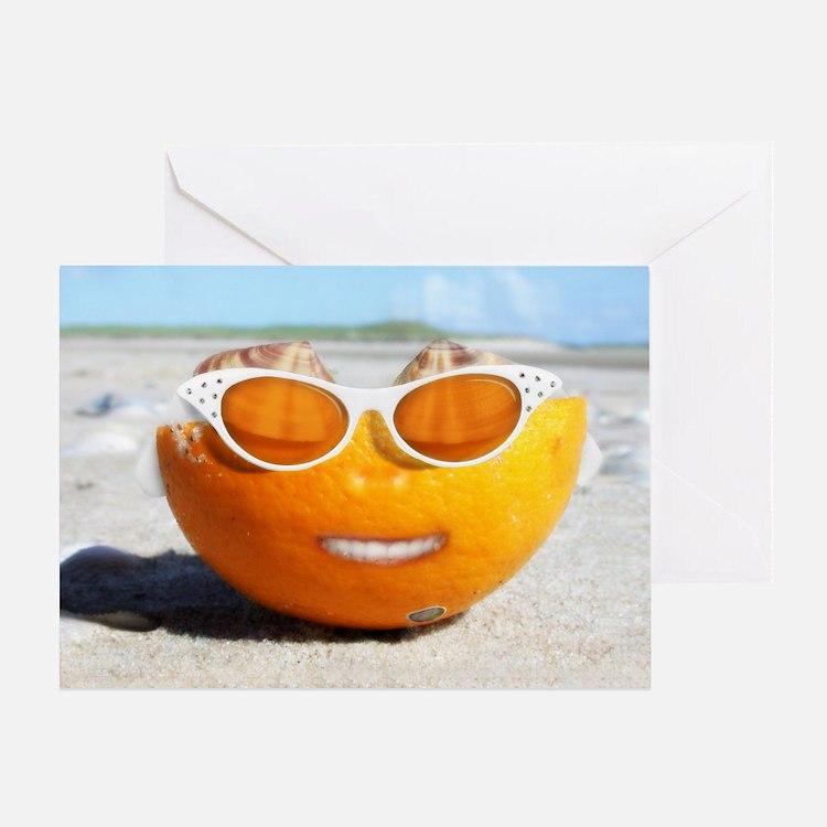 Cute Orange Greeting Card