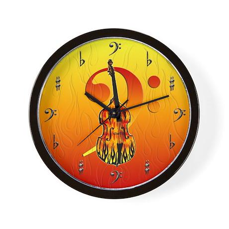 Stand Up Bass Wall Clock