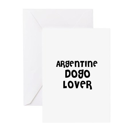 ARGENTINE DOGO LOVER Greeting Cards (Pk of 10)