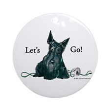 Let's Go Scotty!!! Ornament (Round)