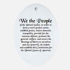 We the People US Ornament (Oval)