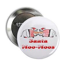 "Santa MooMoos 2.25"" Button (100 pack)"