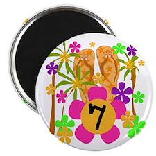 Luau 7th Birthday Magnet