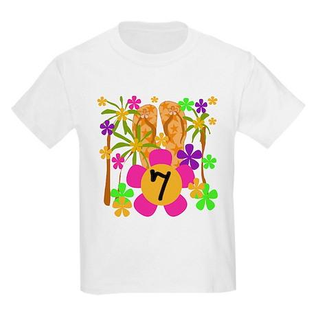 Luau 7th Birthday Kids T-Shirt