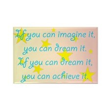Imagine Dream Achieve Rectangle Magnet
