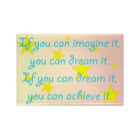 Imagine Dream Achieve Rectangle Magnet (100 pack)